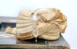 Sehra para o noivo na cerimônia de casamento tradicional Imagem de Stock