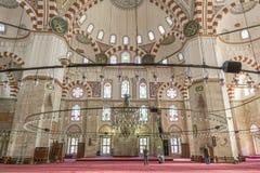 从Sehzade清真寺,伊斯坦布尔,土耳其的内部细节 免版税库存照片