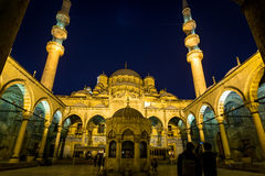 Sehzade Mehmet Mosque. At night Stock Images