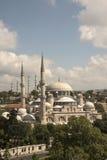 Sehzade moské och Suleymaniye moské Arkivbilder