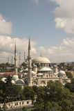 Sehzade mosque and Suleymaniye Mosque. Sehzade mosque and behind of Suleymaniye Mosque Stock Images