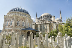 Sehzade Mosque and Tomb Of Sehzade Mehmed, Istanbul, Turkey. Ottoman Cemetery at Sehzade Mosque and Tomb Of Sehzade Mehmed, Istanbul, Turkey Royalty Free Stock Photography