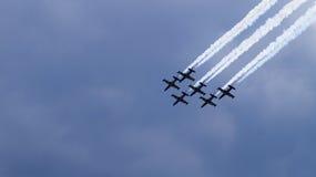 Sei aerei nel gruppo Fotografia Stock Libera da Diritti