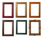 Sei blocchi per grafici di legno fotografia stock libera da diritti
