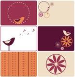 Sei disegni degli uccelli illustrazione vettoriale
