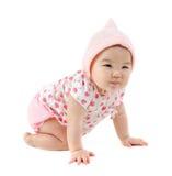 Sei mesi della neonata asiatica orientale Fotografie Stock