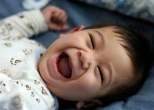 Sei mesi felici del bambino Fotografie Stock Libere da Diritti