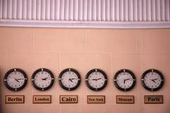 Sei orologi Fotografie Stock Libere da Diritti