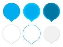 Sei puntatori blu della mappa Fotografia Stock