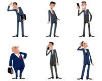 Sei uomini d'affari messi Immagini Stock Libere da Diritti