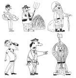 Sei uomini sconosciuti messi royalty illustrazione gratis