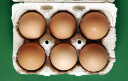 Sei uova Fotografie Stock Libere da Diritti