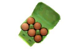 Sei uova immagini stock libere da diritti