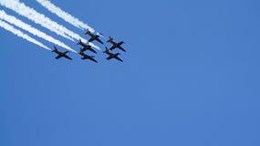 Sei voli degli ærei militari nel gruppo Immagine Stock Libera da Diritti