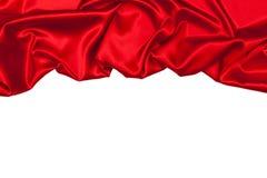 Seide drapieren, lokalisiert auf Weiß Stockbild