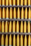 Seide eingewickelt auf Kunststoffrohr, thailändisches silk Rohr Stockfotos