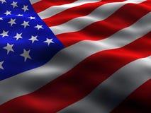 Seidige US-Markierungsfahne Stockfotos