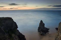 Seidiges Meer von Gwithian-Strand Stockfoto