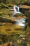 Seidiges Wasser von Salroc fällt in New Hampshire-` s Weiß-Berge Stockbilder