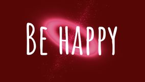 Seien Sie auf rotem Hintergrund glücklich stock abbildung