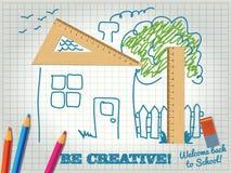 Seien Sie beim Lernen kreativ lizenzfreie abbildung