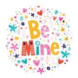 Seien Sie Bergwerk Valentinstag-Liebeskarte Lizenzfreies Stockfoto