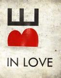 Seien Sie in der Liebe Stockbild