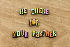 Seien Sie dort Stützgattepartnerliebes-Freundart lizenzfreie stockbilder