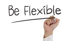 Seien Sie flexibel Stockfotos