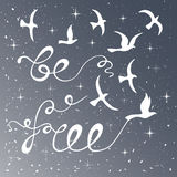 Seien Sie frei Inspirierend Zitat Lizenzfreies Stockbild