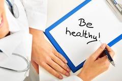 Seien Sie gesund lizenzfreies stockbild