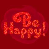 Seien Sie glückliches Plakat Lizenzfreie Stockfotografie