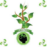 Seien Sie grün stockbilder