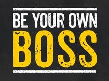 Seien Sie Ihr eigener Chef stock abbildung