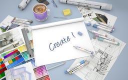 Seien Sie kreativ stock abbildung