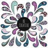 Seien Sie kreativ Inspirierend Plakatschablone Dekoratives Verzierungsdesign des Gekritzels vektor abbildung