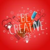 Seien Sie kreativ Schablone für einen Text stock abbildung