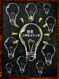 Seien Sie kreatives Birnen-Licht lizenzfreie abbildung