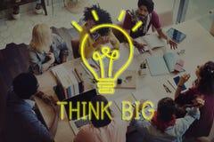 Seien Sie kreatives neues Fantasie-Innovations-Grafik-Konzept Stockfoto