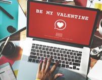 Seien Sie mein Valentine Romance Heart Love Passions-Konzept Stockfotos
