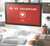 Seien Sie mein Valentine Romance Heart Love Passions-Konzept Stockbilder