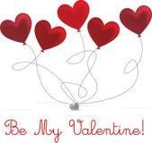 Seien Sie mein Valentinsgruß Stock Abbildung