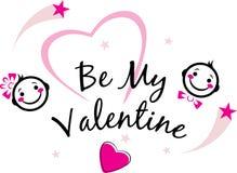 Seien Sie mein Valentinsgruß Nettes Design Lizenzfreie Stockfotos