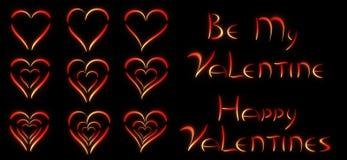 Seien Sie mein Valentinsgruß/Valentinsgrußherzen Lizenzfreies Stockbild