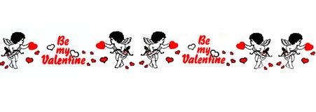 Seien Sie meine Valentinsgruß-Fahne Stockbild