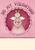 Seien Sie meine Valentinsgruß-Gruß-Karte Lizenzfreies Stockfoto