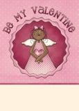 Seien Sie meine Valentinsgruß-Gruß-Karte Lizenzfreies Stockbild