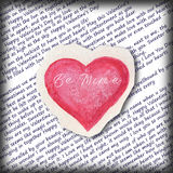 Seien Sie meine - Valentinsgruß ` s Tageskarte Lizenzfreies Stockfoto