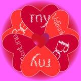 Seien Sie meine Valentinsgrußblume stock abbildung