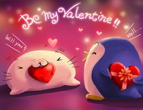 Seien Sie meine Valentinsgrußgrußkarte Lizenzfreies Stockbild